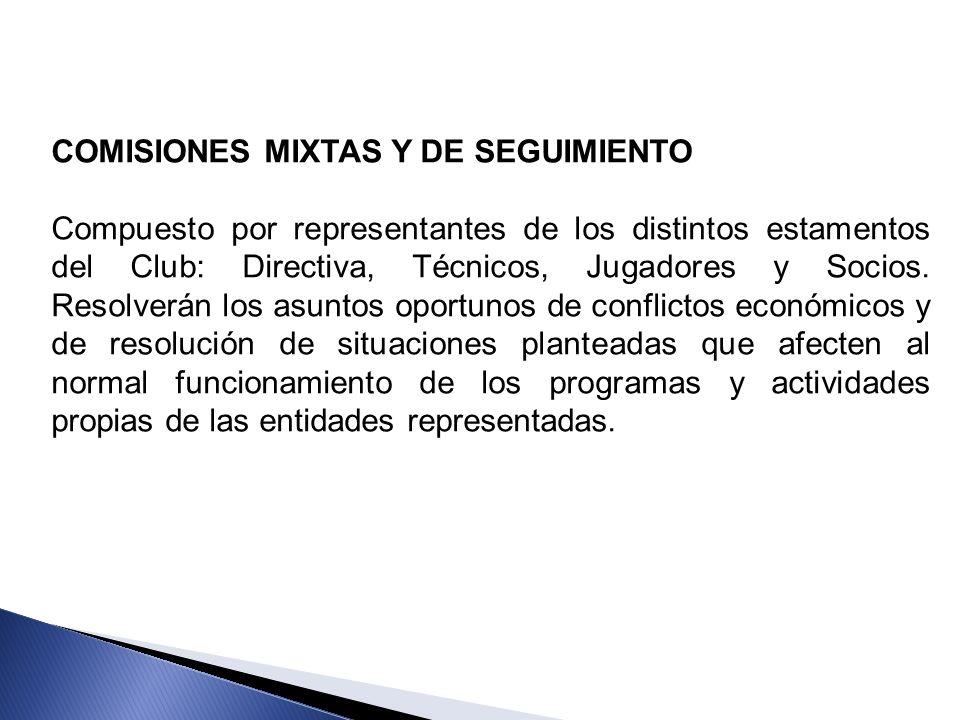 COMISIONES MIXTAS Y DE SEGUIMIENTO