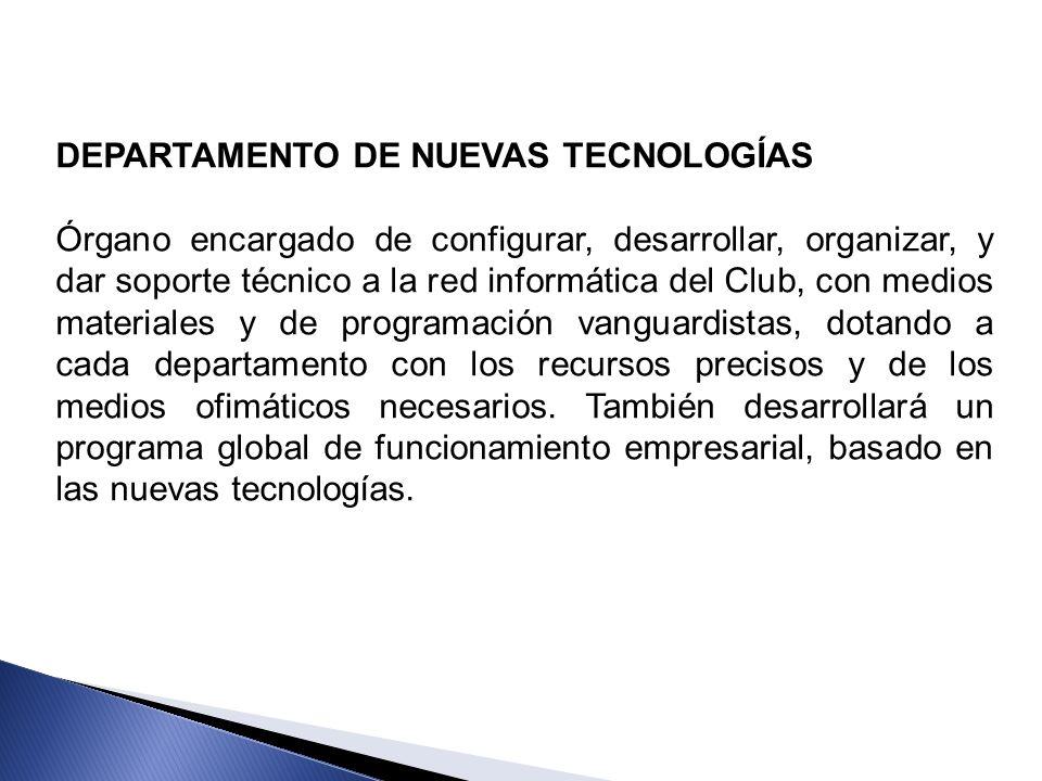 DEPARTAMENTO DE NUEVAS TECNOLOGÍAS