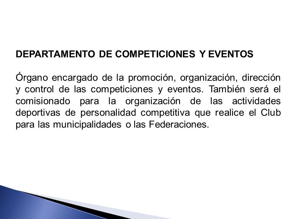 DEPARTAMENTO DE COMPETICIONES Y EVENTOS