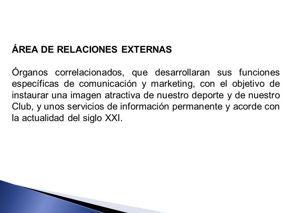 ÁREA DE RELACIONES EXTERNAS