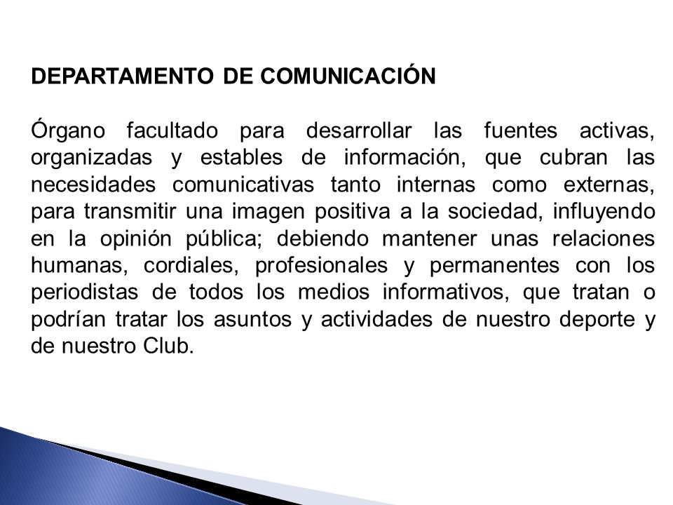DEPARTAMENTO DE COMUNICACIÓN