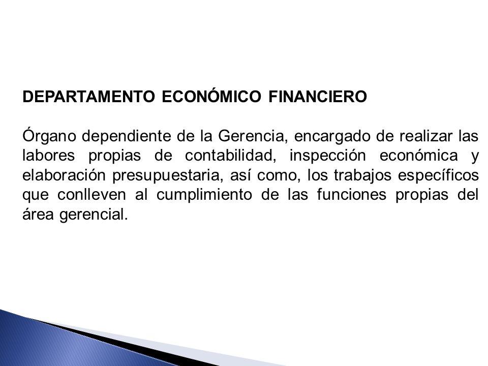 DEPARTAMENTO ECONÓMICO FINANCIERO