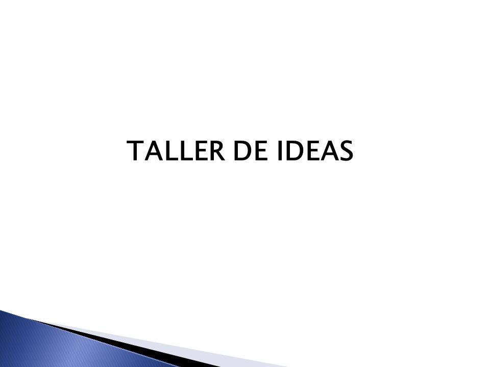 TALLER DE IDEAS