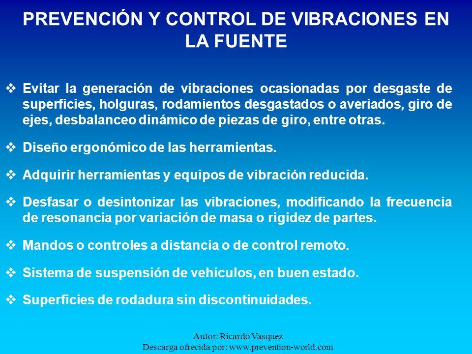 PREVENCIÓN Y CONTROL DE VIBRACIONES EN LA FUENTE
