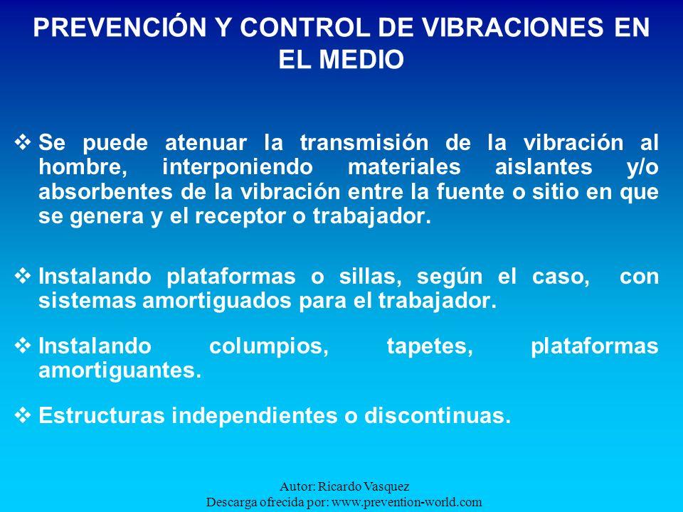 PREVENCIÓN Y CONTROL DE VIBRACIONES EN EL MEDIO