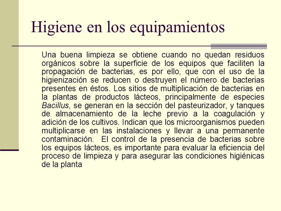 Higiene en los equipamientos
