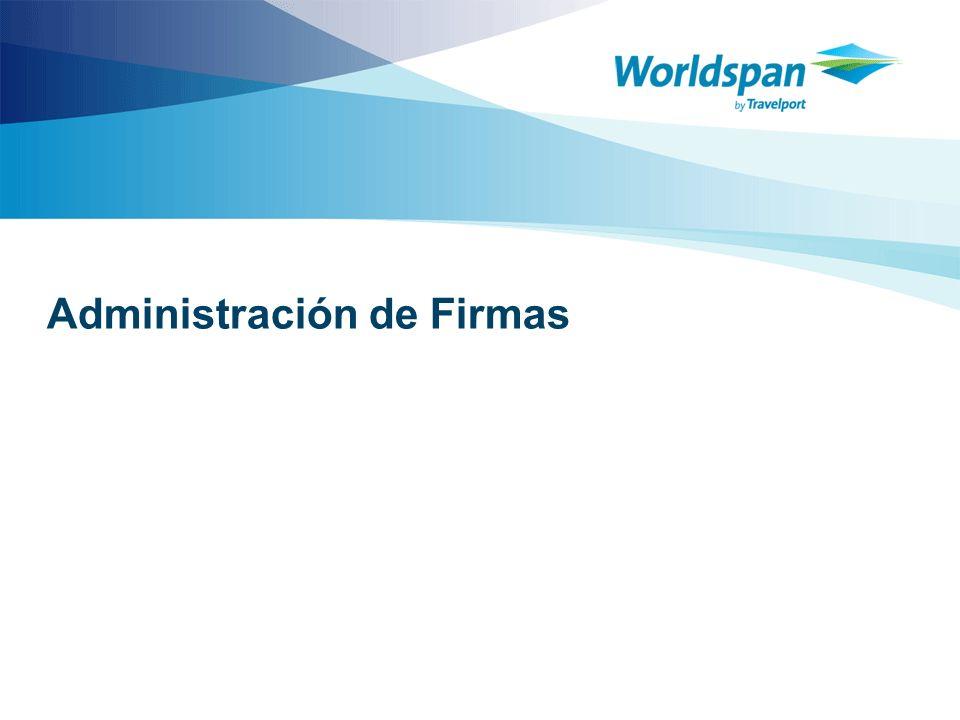 Administración de Firmas