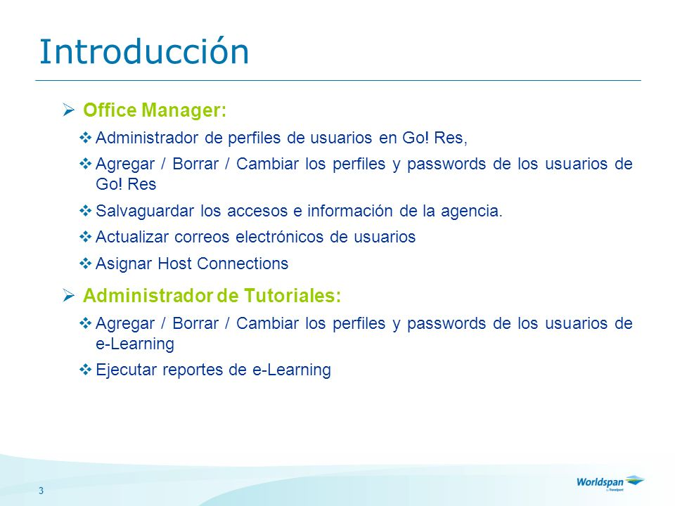 Introducción Office Manager: Administrador de Tutoriales: