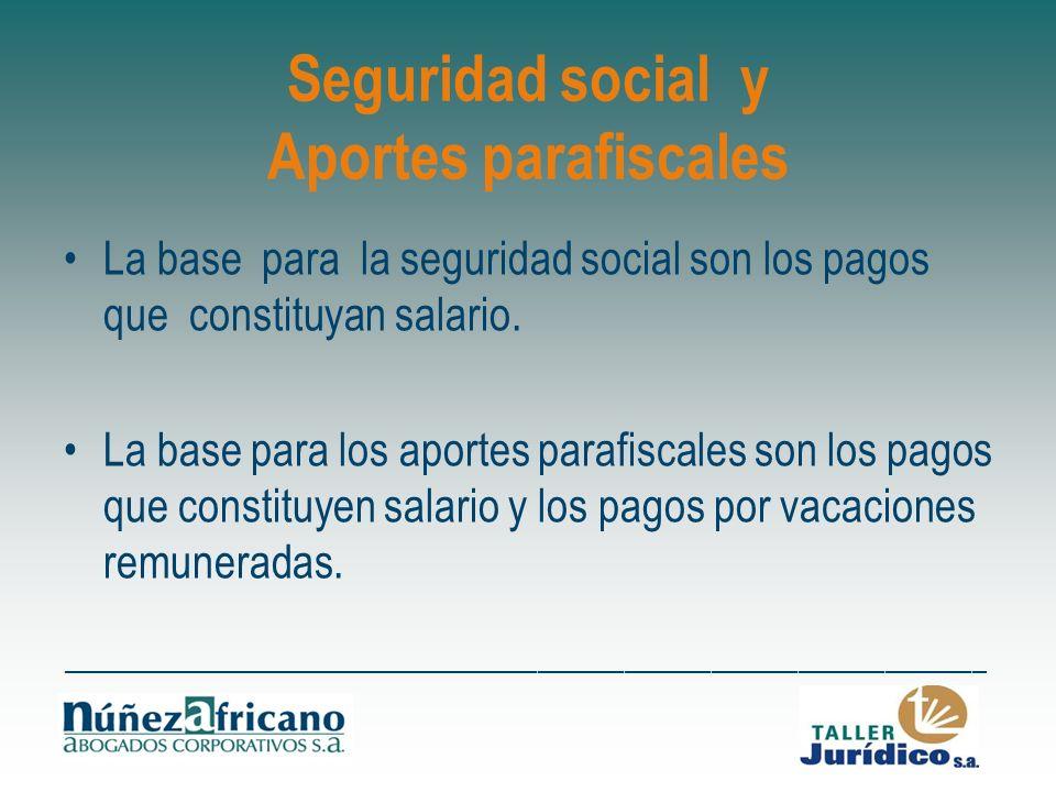 Seguridad social y Aportes parafiscales
