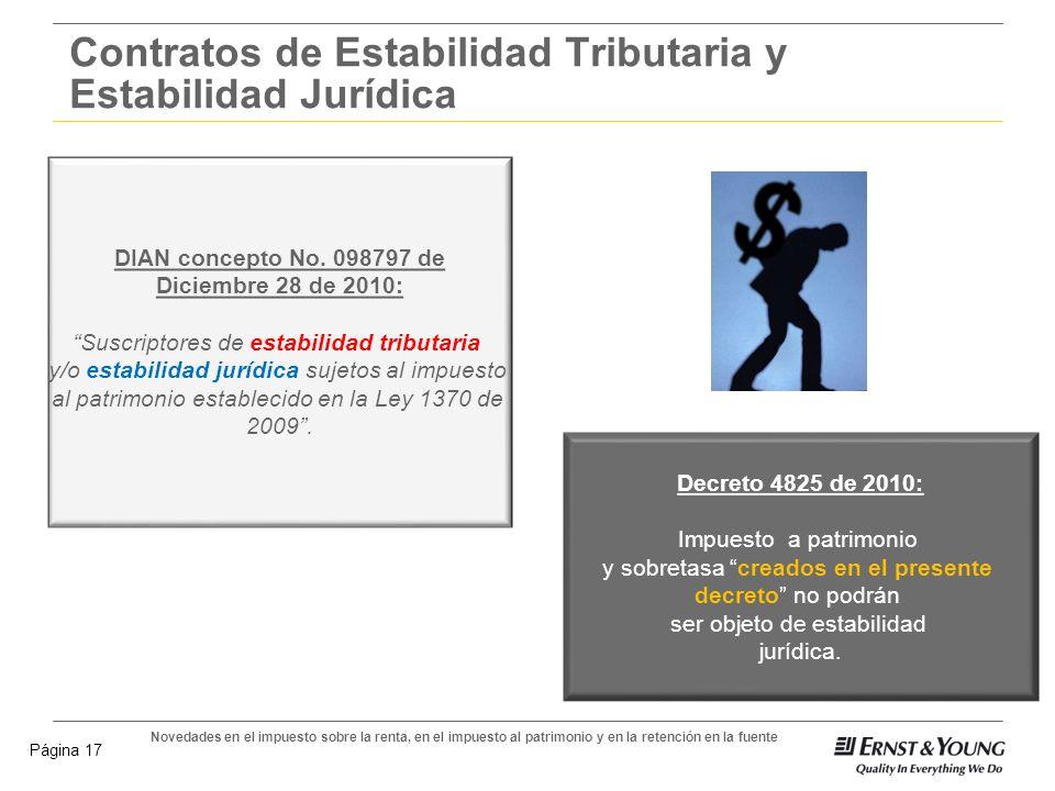 Contratos de Estabilidad Tributaria y Estabilidad Jurídica