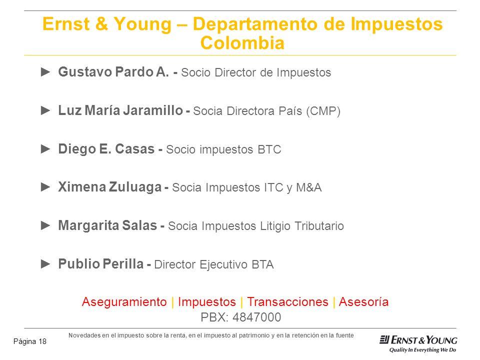 Ernst & Young – Departamento de Impuestos Colombia