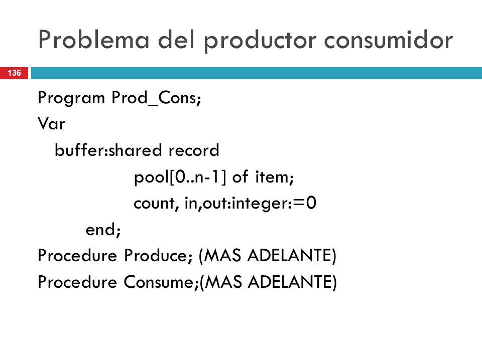 Problema del productor consumidor