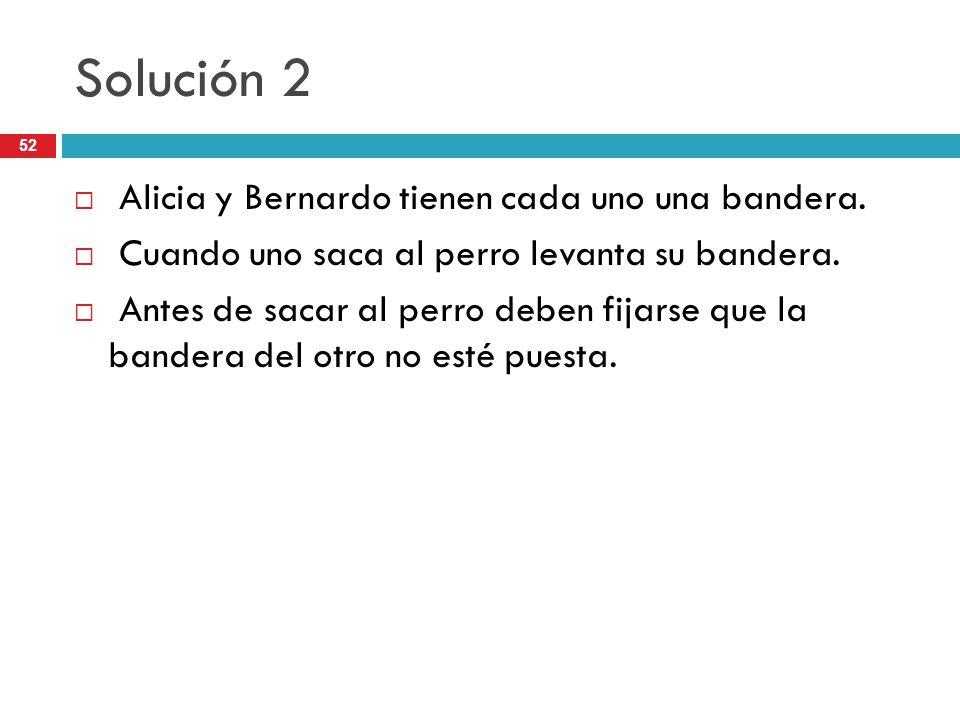 Solución 2 Alicia y Bernardo tienen cada uno una bandera.