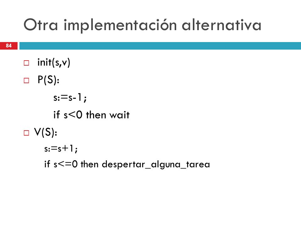 Otra implementación alternativa