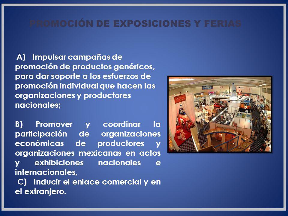 PROMOCIÓN DE EXPOSICIONES Y FERIAS