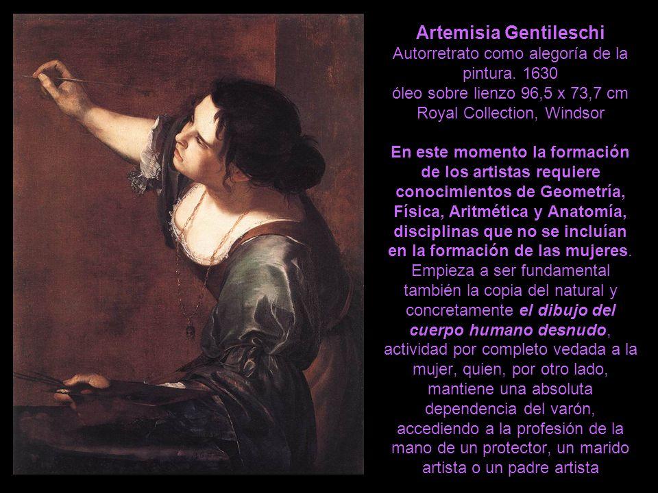 Artemisia Gentileschi Autorretrato como alegoría de la pintura