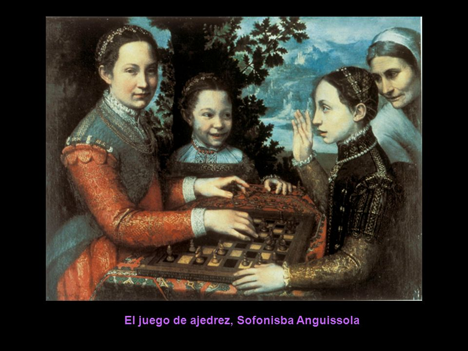 El juego de ajedrez, Sofonisba Anguissola