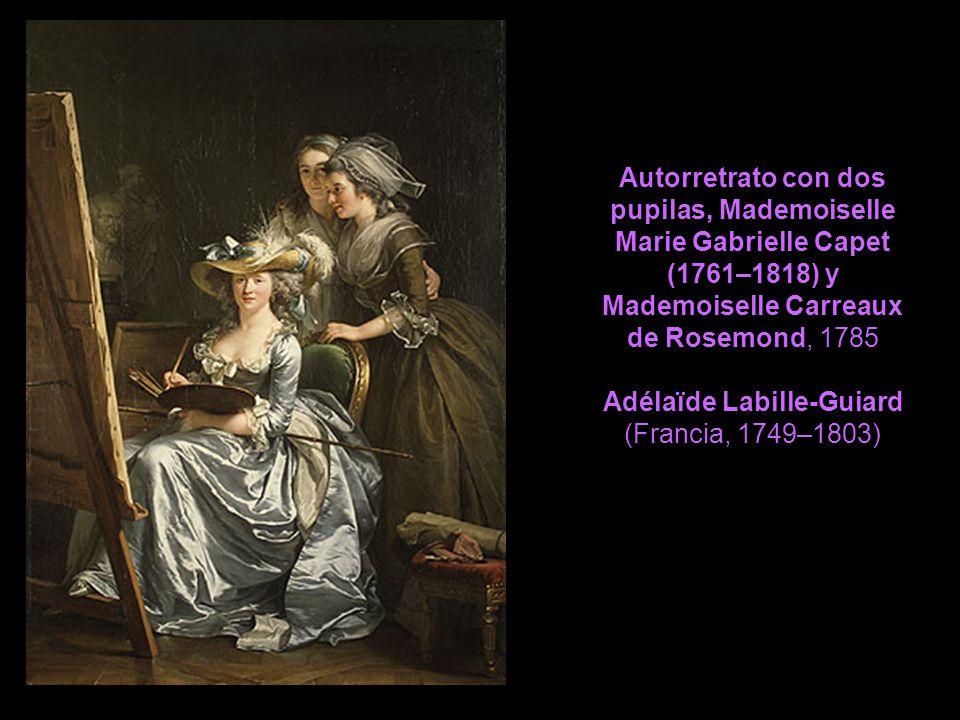 Autorretrato con dos pupilas, Mademoiselle Marie Gabrielle Capet (1761–1818) y Mademoiselle Carreaux de Rosemond, 1785 Adélaïde Labille-Guiard (Francia, 1749–1803)