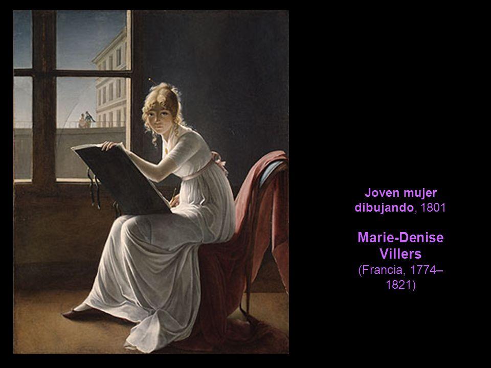 Joven mujer dibujando, 1801 Marie-Denise Villers (Francia, 1774–1821)