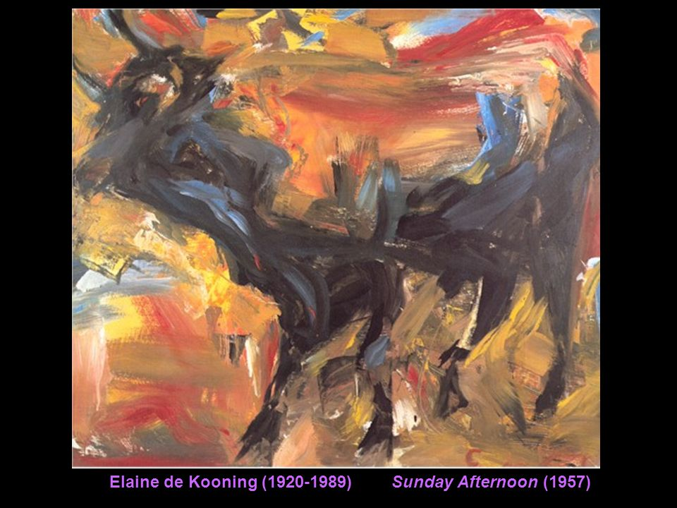 Elaine de Kooning (1920-1989) Sunday Afternoon (1957)