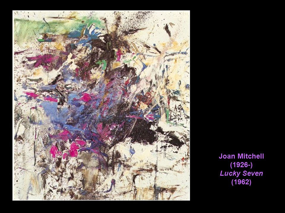 Joan Mitchell (1926-) Lucky Seven (1962)