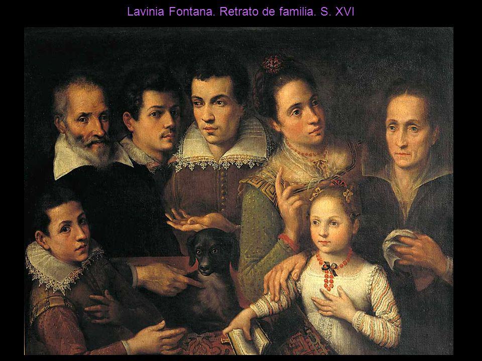 Lavinia Fontana. Retrato de familia. S. XVI