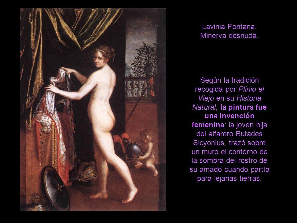 Lavinia Fontana. Minerva desnuda