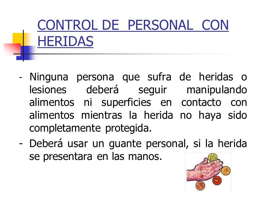 CONTROL DE PERSONAL CON HERIDAS