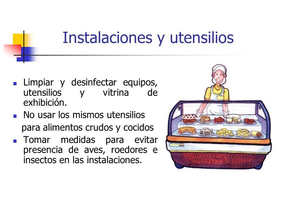 Instalaciones y utensilios
