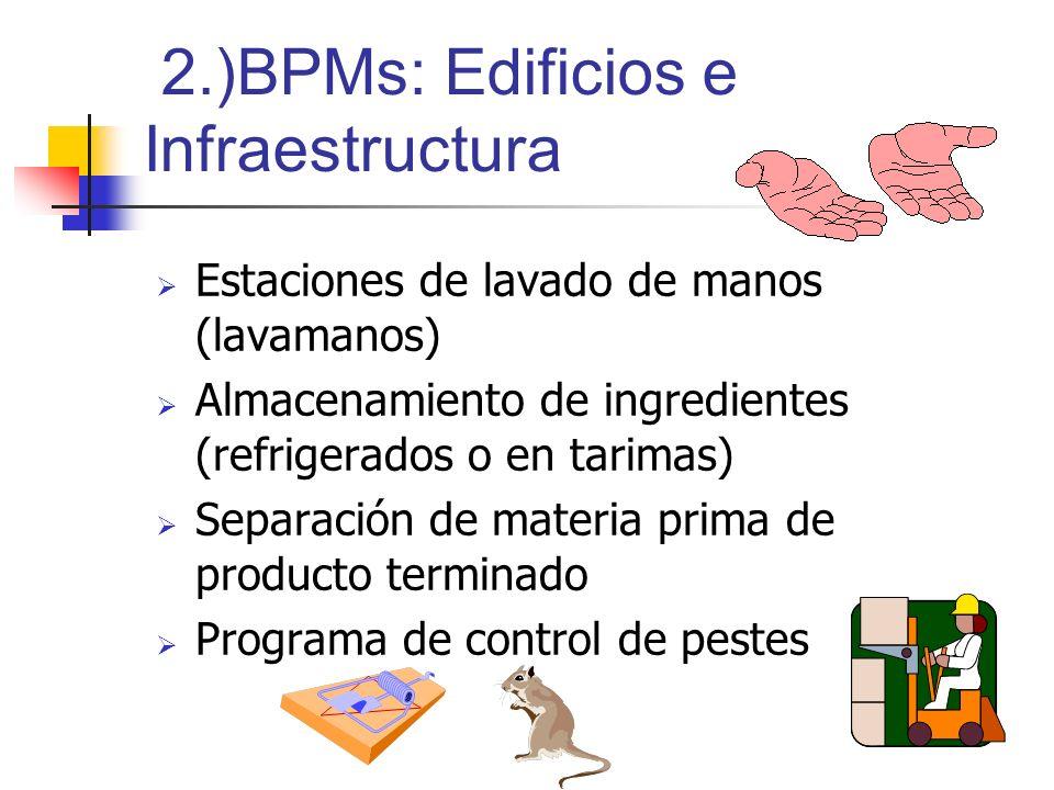 2.)BPMs: Edificios e Infraestructura