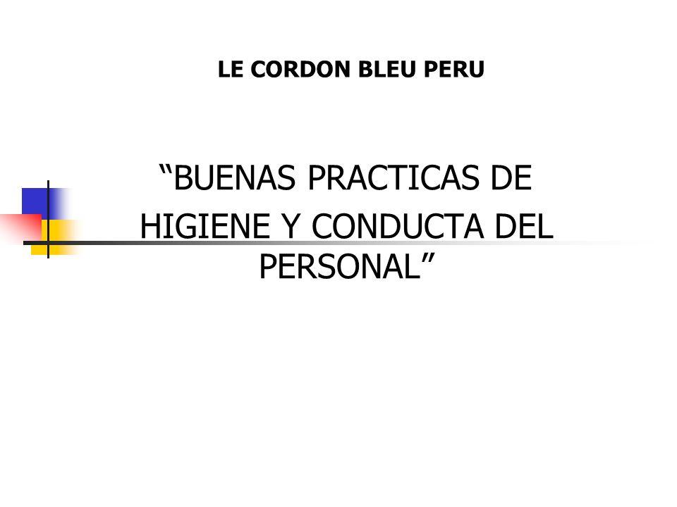 BUENAS PRACTICAS DE HIGIENE Y CONDUCTA DEL PERSONAL