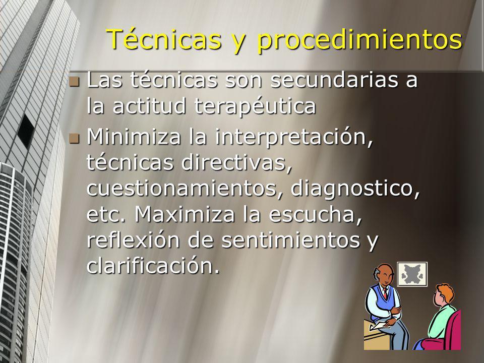 Técnicas y procedimientos