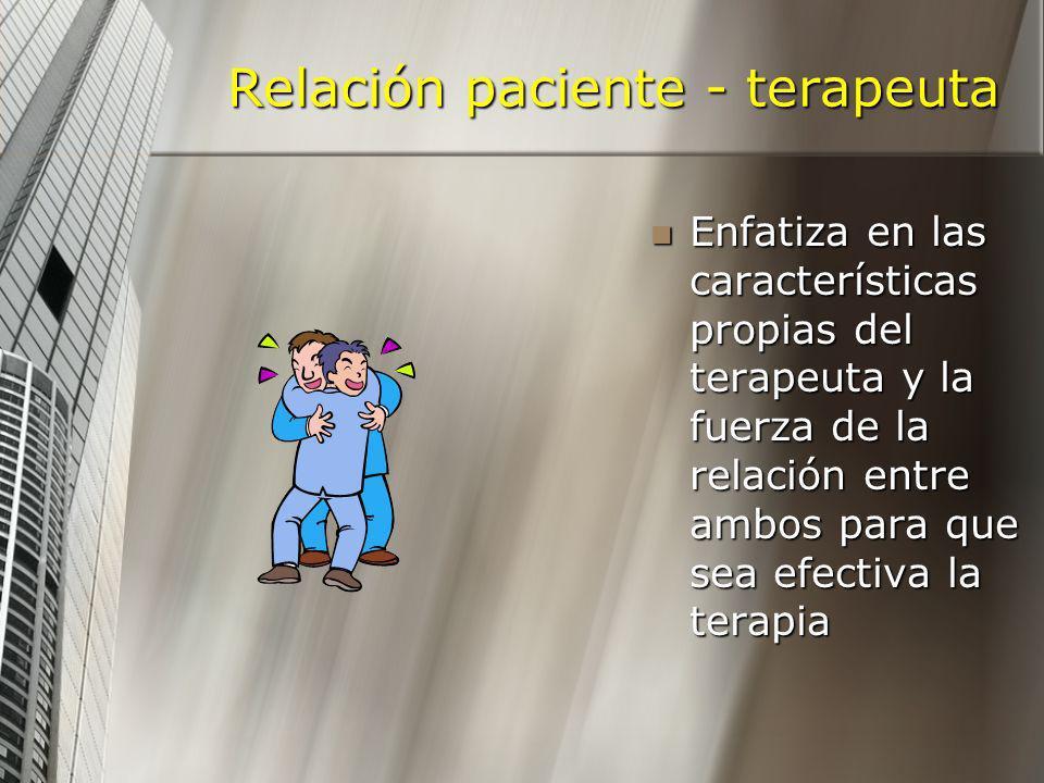 Relación paciente - terapeuta