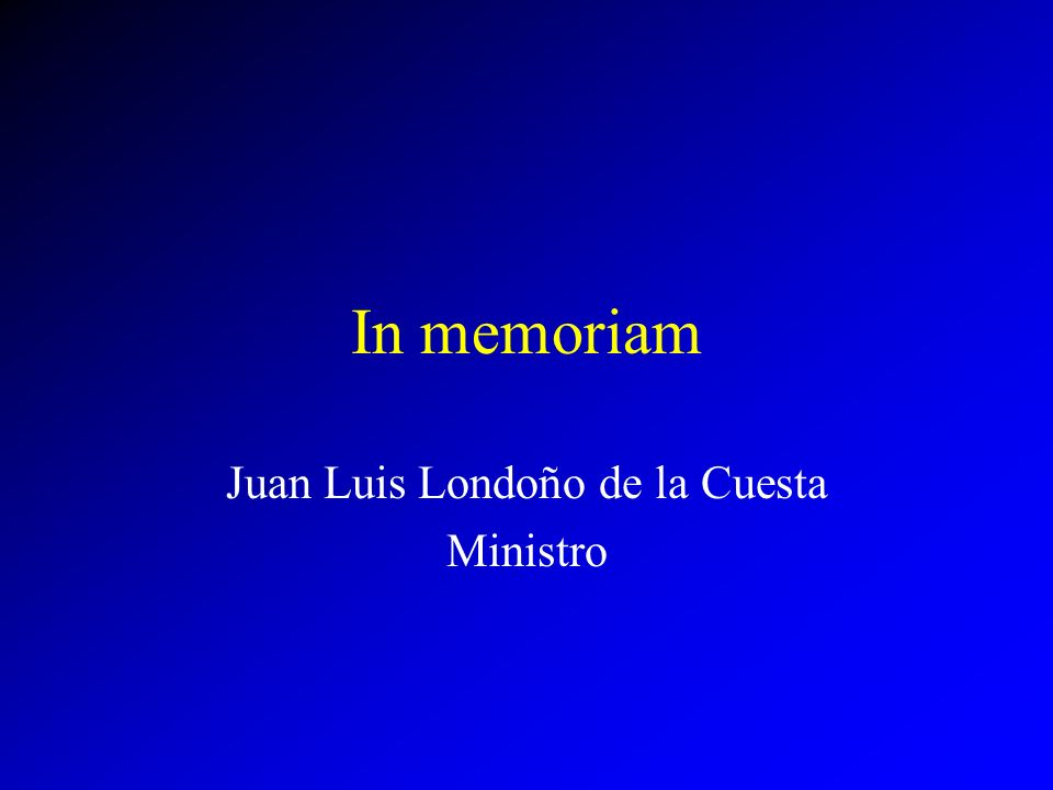 Juan Luis Londoño de la Cuesta Ministro