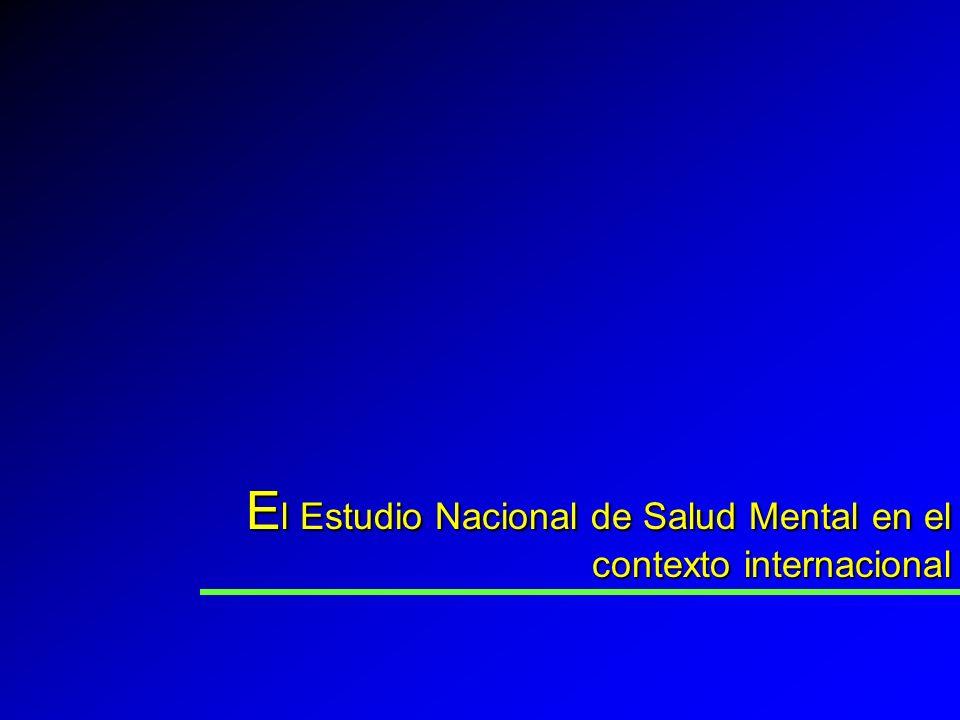 El Estudio Nacional de Salud Mental en el contexto internacional