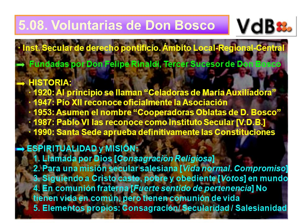 5.08. Voluntarias de Don Bosco