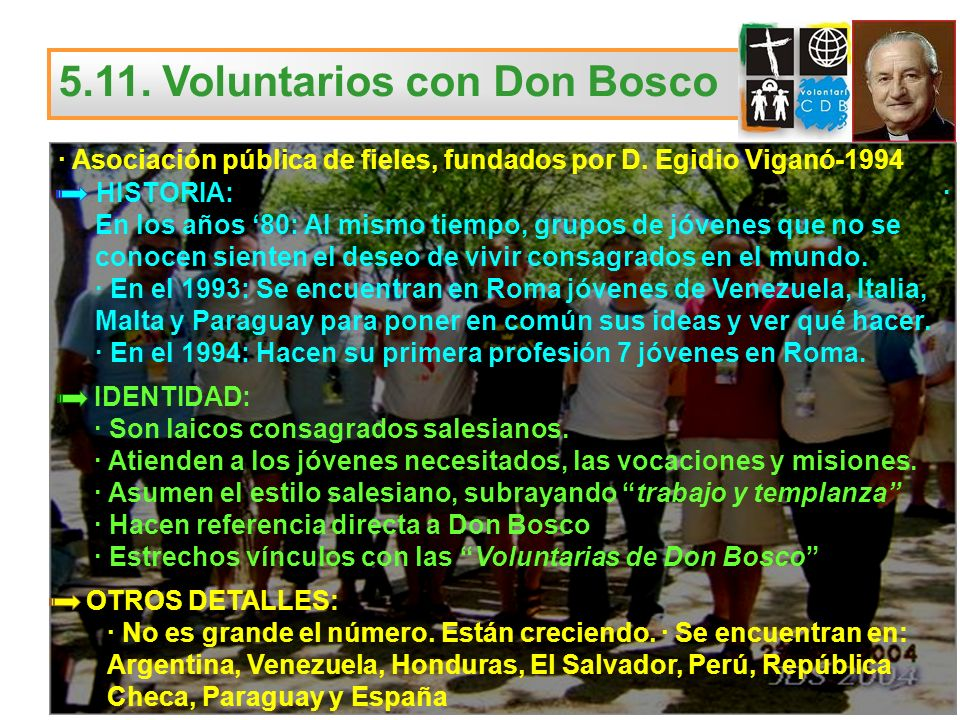 5.11. Voluntarios con Don Bosco