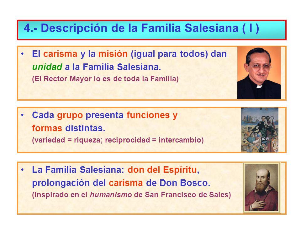 4.- Descripción de la Familia Salesiana ( I )