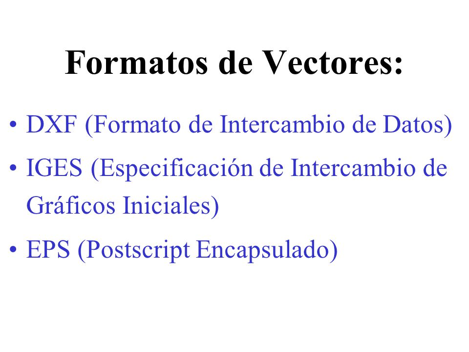 Formatos de Vectores: DXF (Formato de Intercambio de Datos)