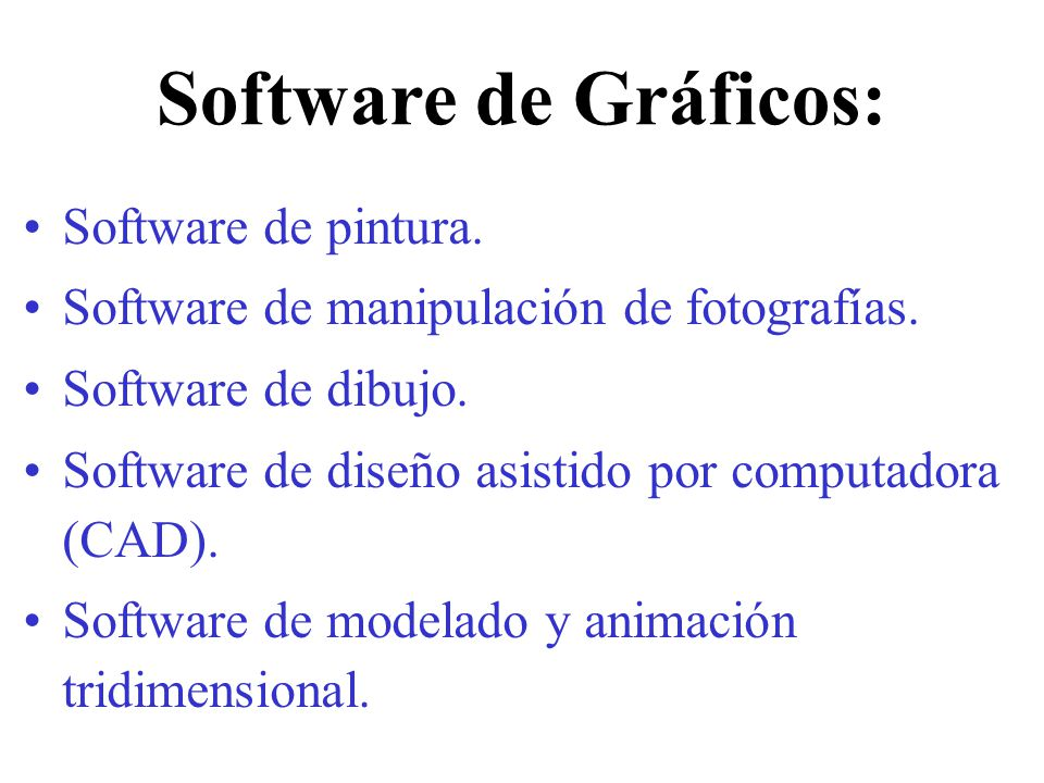 Software de Gráficos: Software de pintura.
