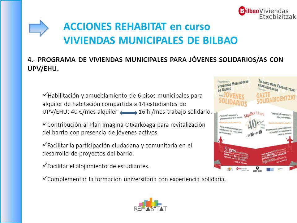 ACCIONES REHABITAT en curso VIVIENDAS MUNICIPALES DE BILBAO