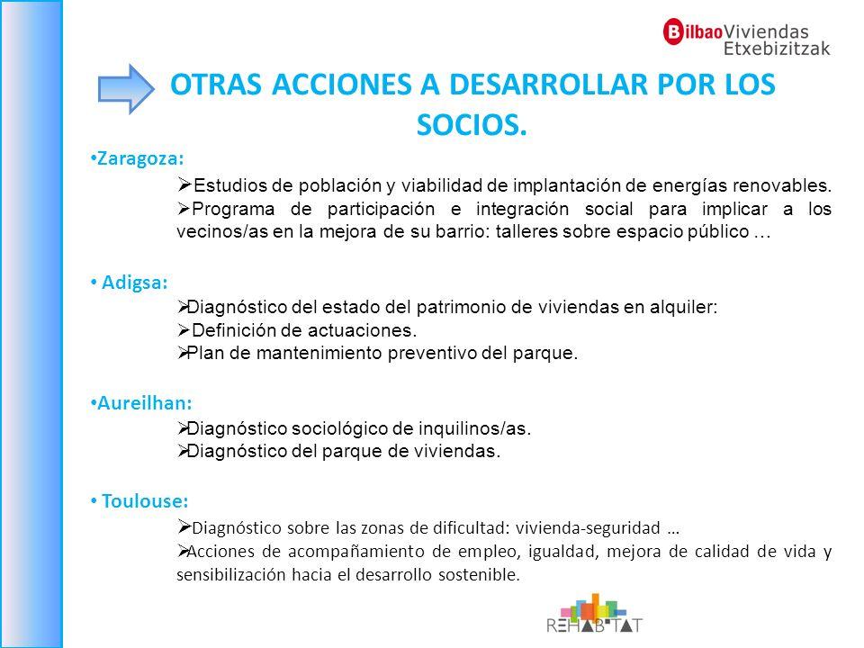 OTRAS ACCIONES A DESARROLLAR POR LOS SOCIOS.