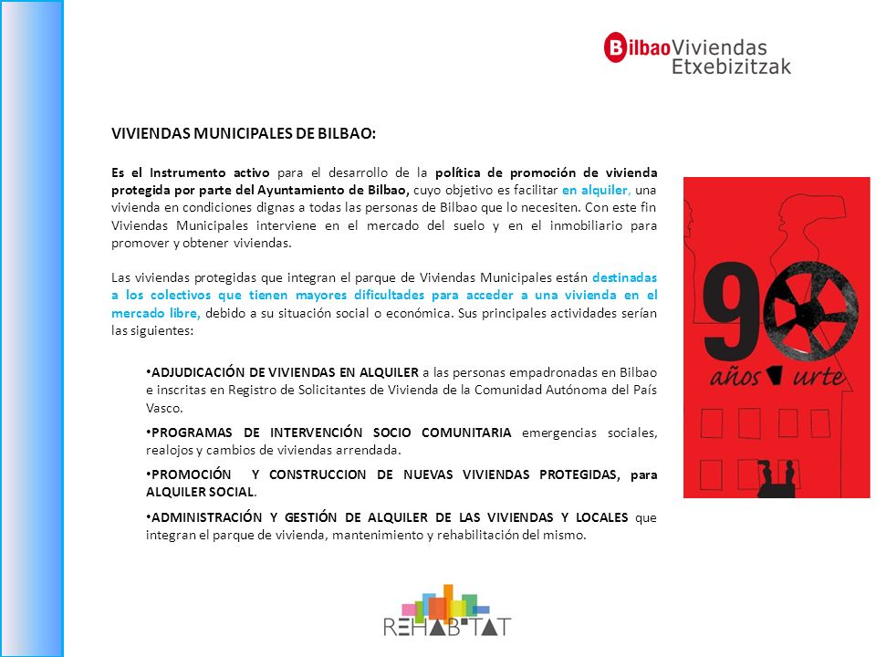 VIVIENDAS MUNICIPALES DE BILBAO: