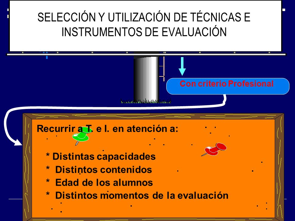SELECCIÓN Y UTILIZACIÓN DE TÉCNICAS E INSTRUMENTOS DE EVALUACIÓN