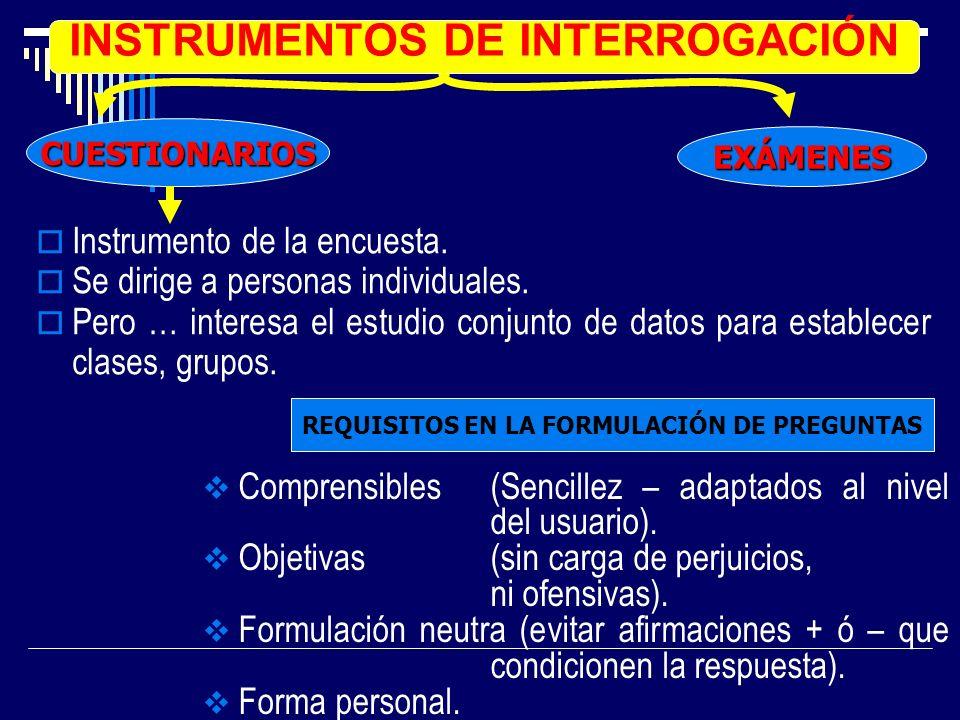 INSTRUMENTOS DE INTERROGACIÓN