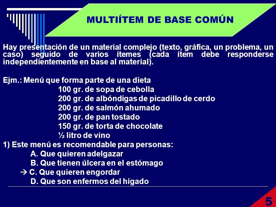 MULTIÍTEM DE BASE COMÚN