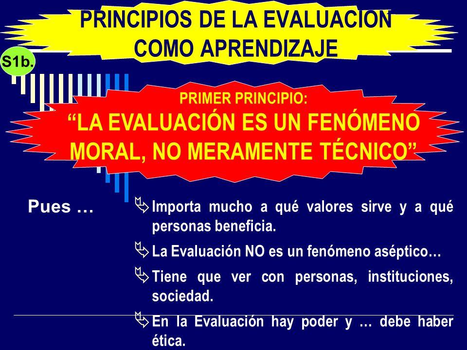 PRINCIPIOS DE LA EVALUACIÓN COMO APRENDIZAJE