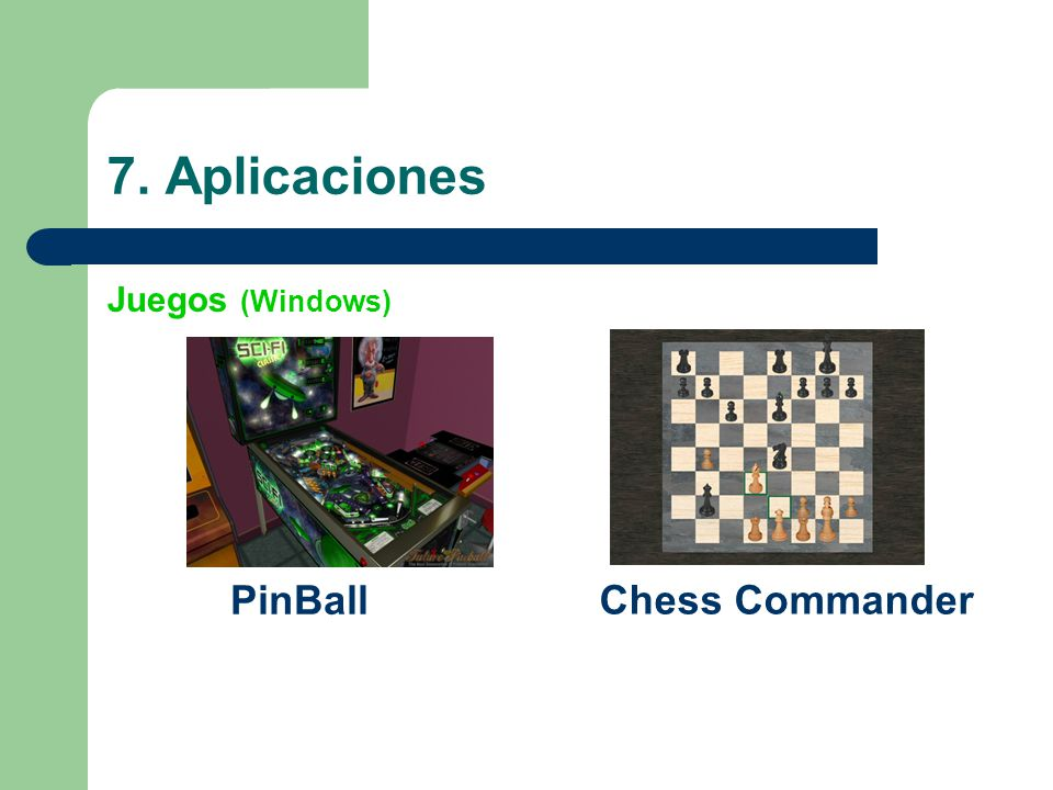 7. Aplicaciones PinBall Chess Commander Juegos (Windows)