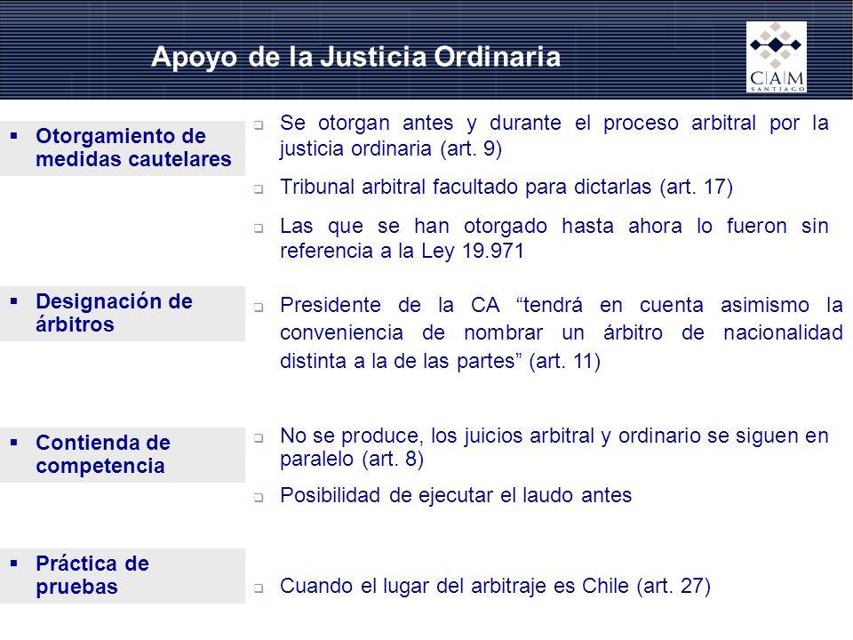 Apoyo de la Justicia Ordinaria