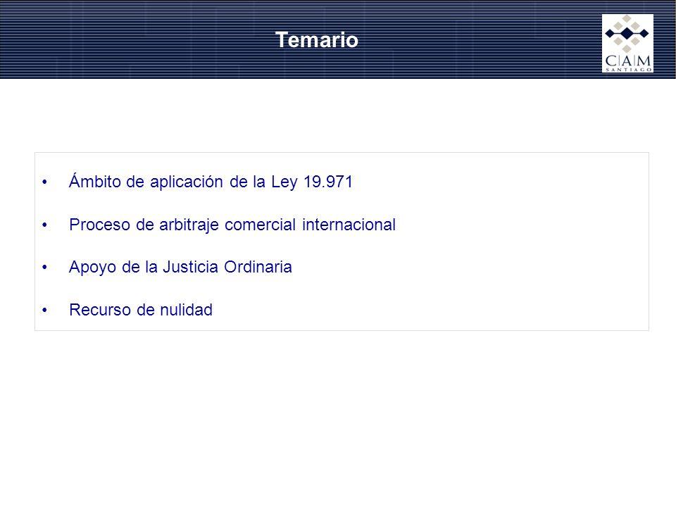 Temario Ámbito de aplicación de la Ley 19.971